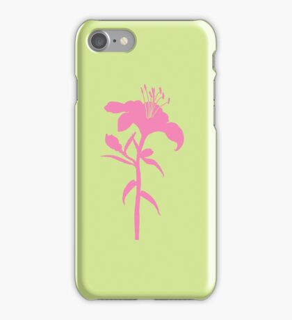 Neon Lily iphone case iPhone Case/Skin