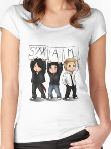 SIXX AM CARTOON Women's Fitted Scoop T-Shirt