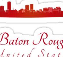 Baton Rouge skyline in red Sticker