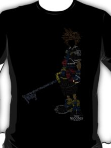 Kingdom Hearts Sora Typography T-Shirt