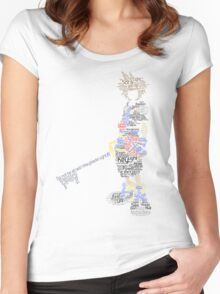 Kingdom Hearts Sora Typography Women's Fitted Scoop T-Shirt