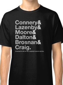 Bond Actor Jetset Classic T-Shirt