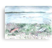 Inlet, Næs  Canvas Print