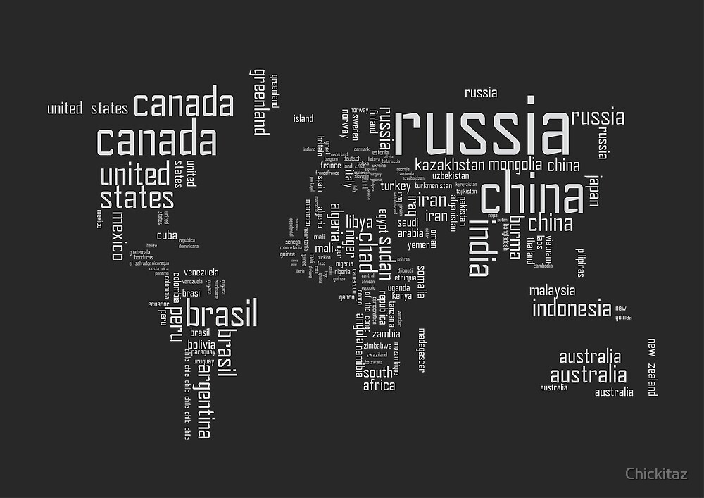 Typography world by Chickitaz