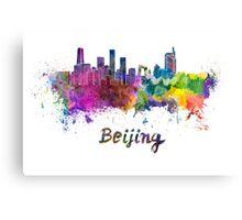 Beijing skyline in watercolor Canvas Print
