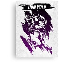 Run Wild (Purple/White) Canvas Print