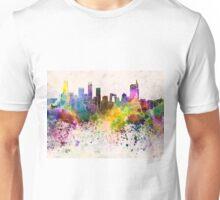 Beijing skyline in watercolor background Unisex T-Shirt