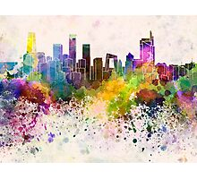 Beijing skyline in watercolor background Photographic Print