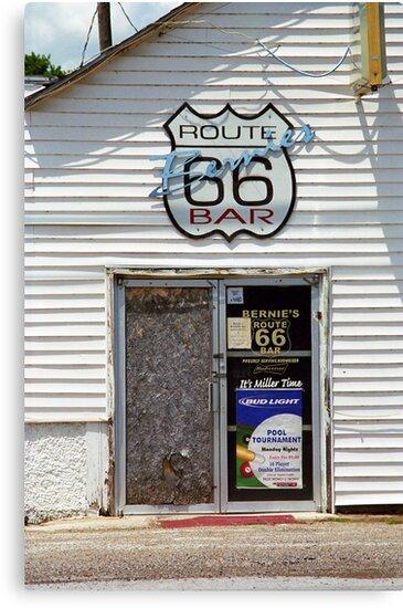 Route 66 - Bernie's Bar by Frank Romeo