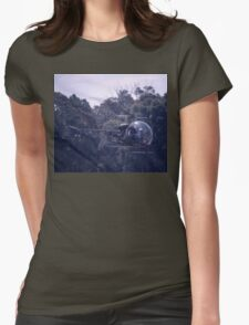 Bell 47 Helicopter @  Nowra, Australia 1997 Womens Fitted T-Shirt