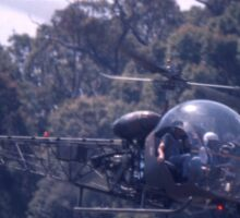 Bell 47 Helicopter @  Nowra, Australia 1997 Sticker