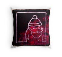Santa Red Throw Pillow