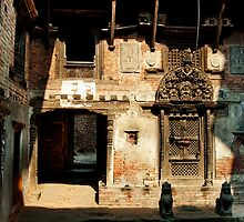 Courtyard in Nepal by A. Duncan