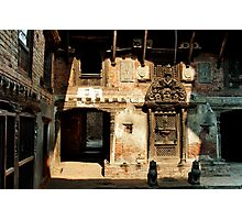 Courtyard in Nepal Photographic Print