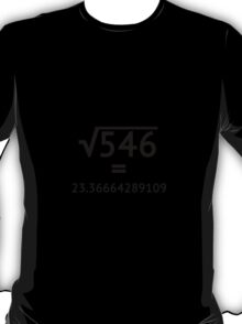 Arbitrary Square Root T-Shirt