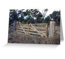 Old paddock gate Greeting Card