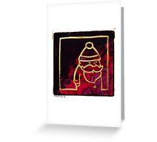 Santa Red & Gold Greeting Card