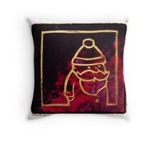 Santa Red & Gold Throw Pillow