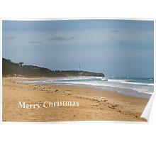Merry Christmas. Split Point Lighthouse Poster