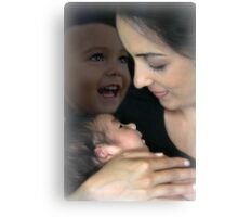 Mother and her children Canvas Print