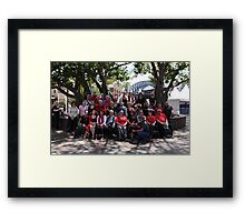 Red Bubble Christmas Rumble at The Rocks 2012 Framed Print