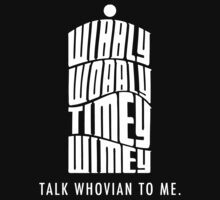 Talk Whovian To Me Kids Clothes