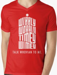 Talk Whovian To Me Mens V-Neck T-Shirt