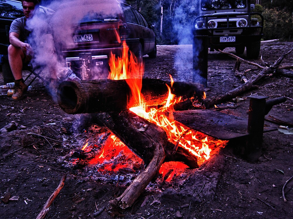 Raging fire by Beau Williams
