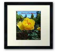 Yellow for Christmas Framed Print