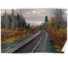 Railroad Tracks Poster