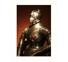 Plate armour, Prague Art Print