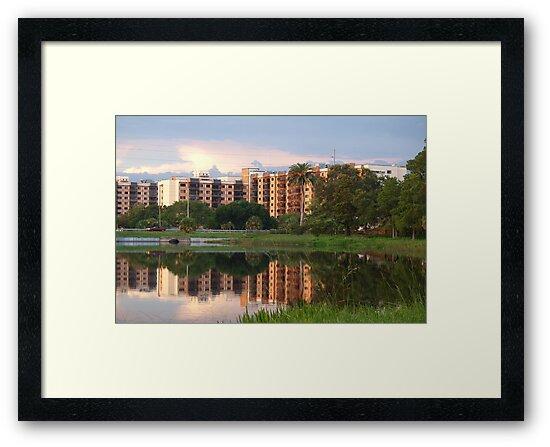 Retreat mirrored in lake by ♥⊱ B. Randi Bailey