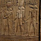 Re Horakhty Hathor and Sobek at Edfu by docnaus