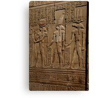 Re Horakhty Hathor and Sobek at Edfu Canvas Print