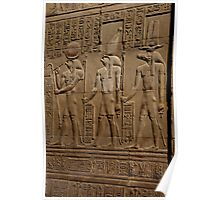 Re Horakhty Hathor and Sobek at Edfu Poster