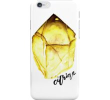 Watercolor Citrine With Calligraphy – November Birthstone iPhone Case/Skin