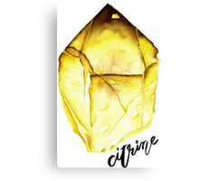 Watercolor Citrine With Calligraphy – November Birthstone Canvas Print