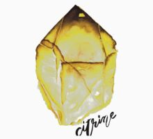 Watercolor Citrine With Calligraphy – November Birthstone Kids Clothes