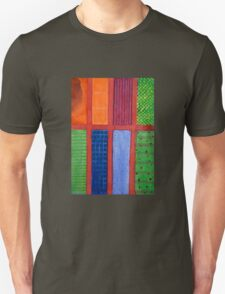 Large rectangle Fields between red Grid T-Shirt