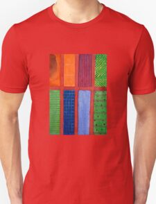Large rectangle Fields between red Grid Unisex T-Shirt