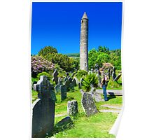 Round Tower at Glendalough Poster