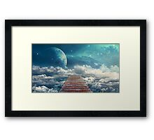 View from the pier Framed Print