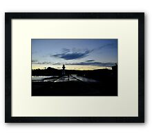 Amber Swirl at Wollongong Lighthouse Framed Print