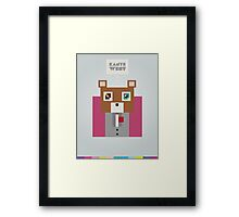 K. West Framed Print