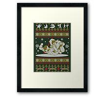 Jiu Jitsu Ugly Christmas Framed Print