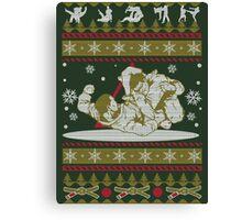 Jiu Jitsu Ugly Christmas Canvas Print