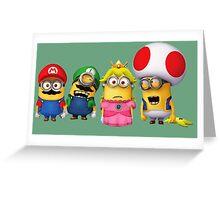 Mario Minions Greeting Card