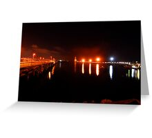 Night Light at Port Greeting Card