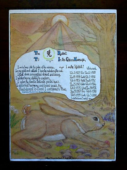 Chinese Horoscope ..The Rabbit by MardiGCalero