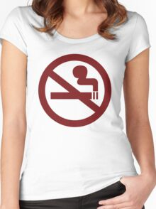 No-Smoking Women's Fitted Scoop T-Shirt